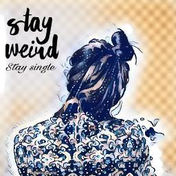 freetoedit remixingmywork remixing singlelady stayweird