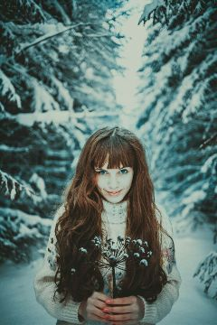 freetoedit photography girl nature winter