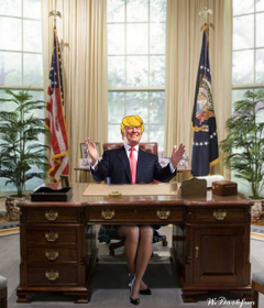 waptrumphair myedit fun funny trump freetoedit