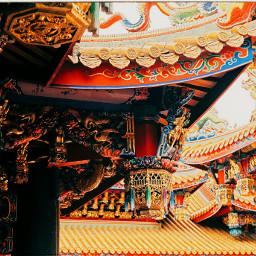 pagoda travel architecture taiwan minolta