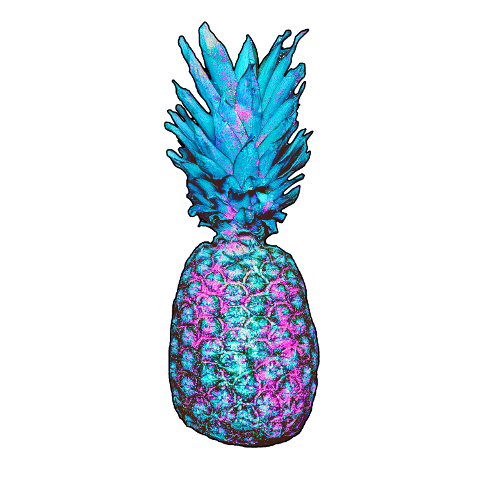 fte ftestickers pineapple fruit holographic freetoedit