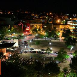 center city park night downtown