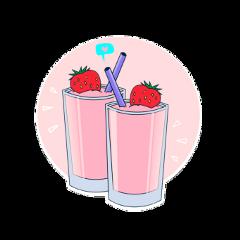 ftestickers milkshake drink freetoedit