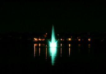 lake water night nature green
